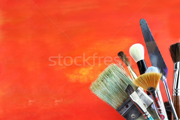 Paintbrushes Stock photo © StephanieFrey