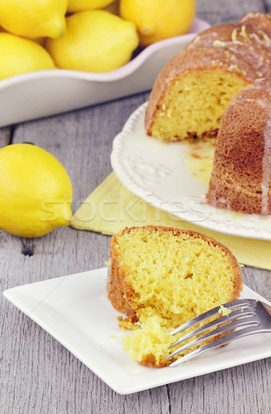 Lemon Bundt Cake Stock photo © StephanieFrey