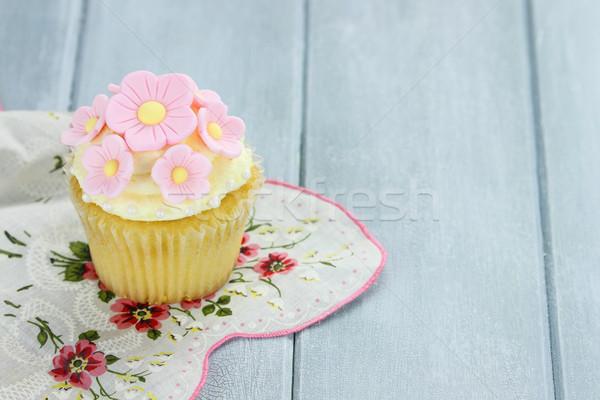 Lemon or Vanilla Flavored Cupcake Stock photo © StephanieFrey