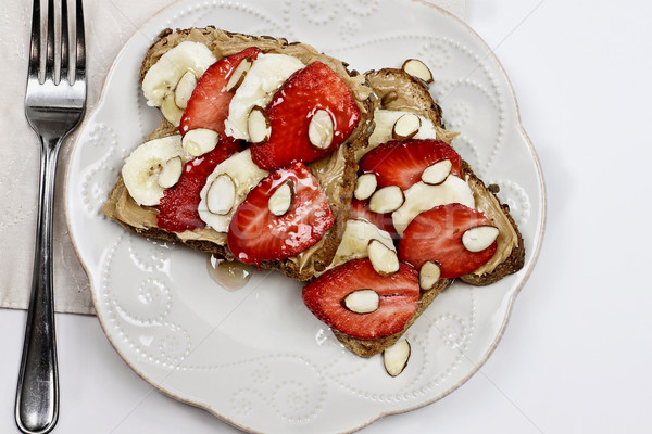 Toast with Strawberries and Bananas Stock photo © StephanieFrey