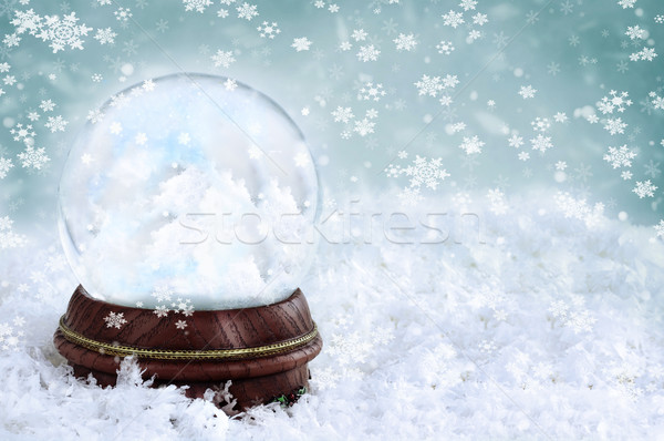 Snow Globe with Clouds Stock photo © StephanieFrey
