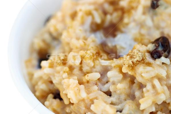 Tatlı pirinç krem esmer şeker makro lezzetli Stok fotoğraf © StephanieFrey