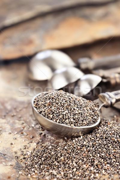 Spoonful of Chia Seeds Stock photo © StephanieFrey