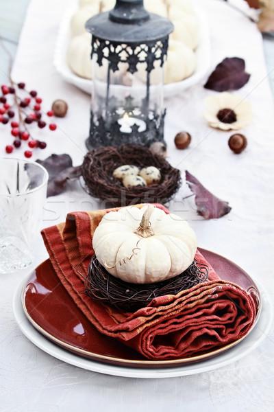 Stock photo: Autumn Table Setting