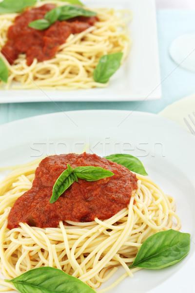 Pasta and Spaghetti Sauce Stock photo © StephanieFrey