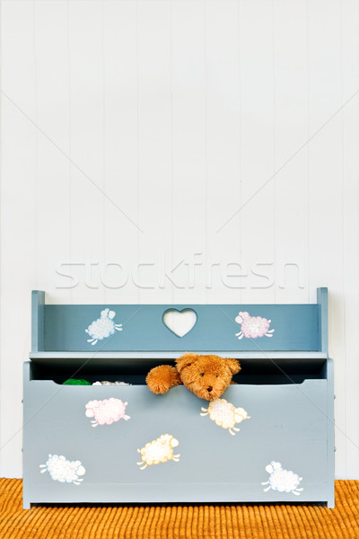 Teddy and Toy Box Stock photo © StephanieFrey