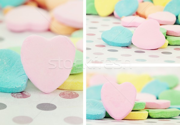 Stock photo: Valentine's Day heart shaped candy
