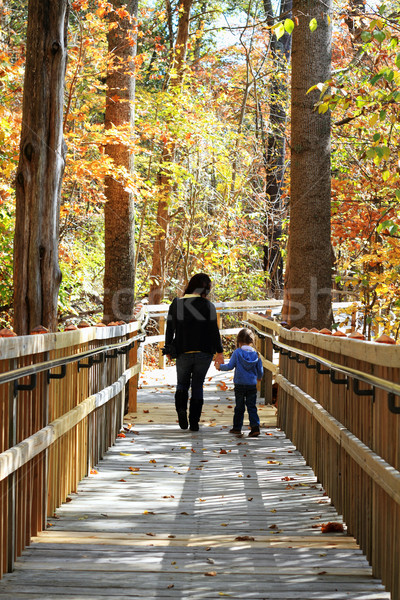 Young Mother and Child Walking Stock photo © StephanieFrey