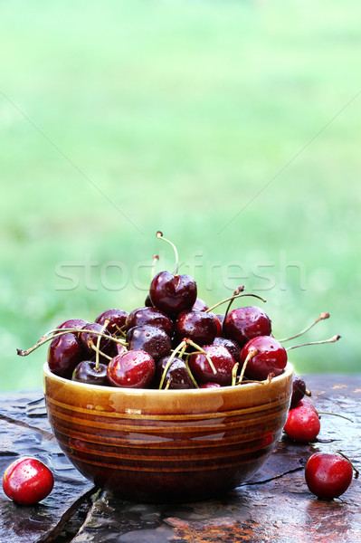 Bowl of Cherries Stock photo © StephanieFrey