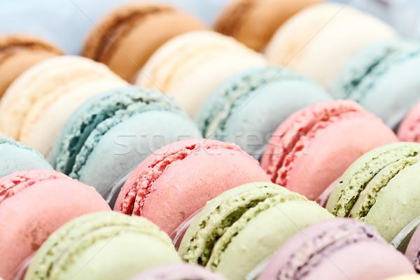французский macarons окна свежие пастельный Сток-фото © StephanieFrey