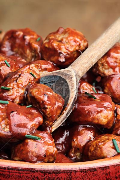 Delicious Turkey Meatballs Stock photo © StephanieFrey