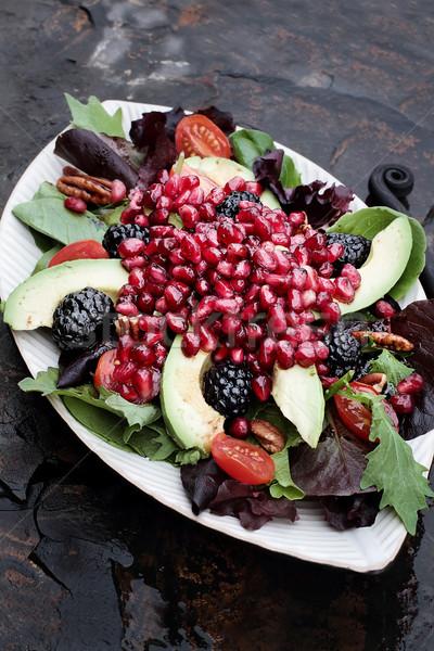 Pomegranate, Avocado and Blackberrry Salad Stock photo © StephanieFrey