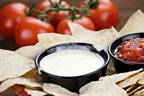 Queso Blanco White Cheese Sauce Stock photo © StephanieFrey