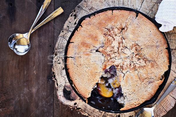 Lezzetli şeftali üzerinde görüntü Stok fotoğraf © StephanieFrey