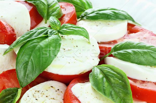 Caprese salatası hazır mozzarella peynir taze organik Stok fotoğraf © StephanieFrey