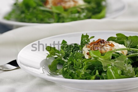 Arugula Salad with Fried Goat Cheese Stock photo © StephanieFrey