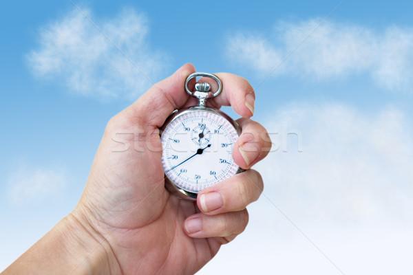 Hand Holding a Watch Stock photo © StephanieFrey