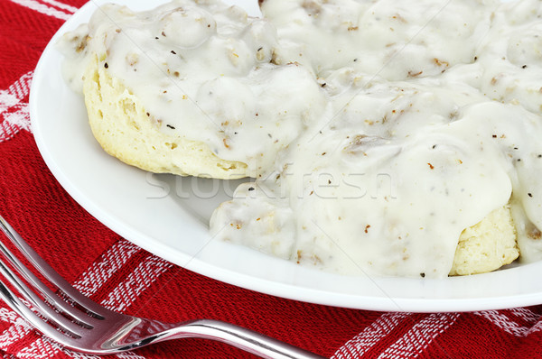 Biscuits and Gravy  Stock photo © StephanieFrey