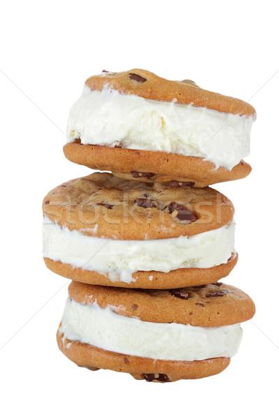 Chocolate Chip Cookie Ice Cream Sandwich Stock photo © StephanieFrey