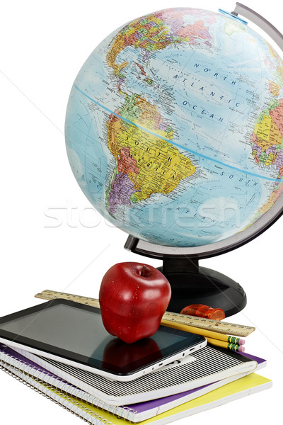 School Supplies and Globe Stock photo © StephanieFrey
