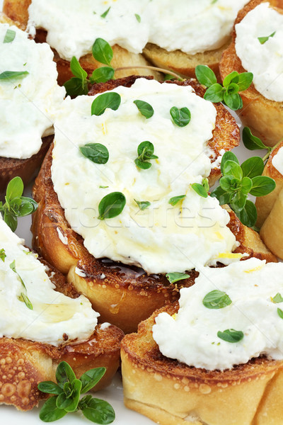 Bruschetta with Ricotta Cheese Stock photo © StephanieFrey