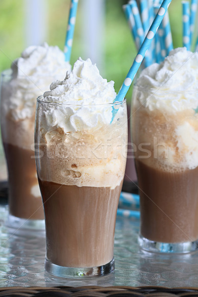 Three Root Beer Floats Stock photo © StephanieFrey