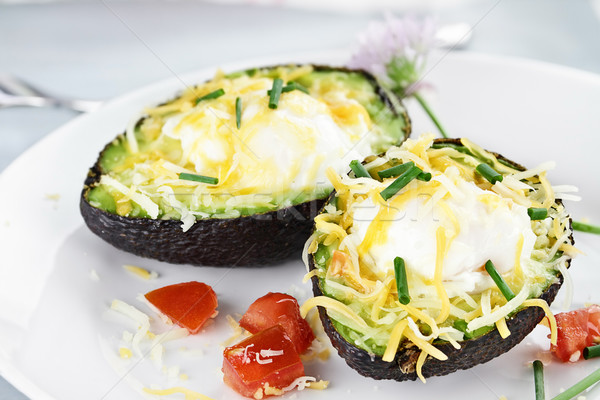 Avocado with Eggs and Cheese Stock photo © StephanieFrey