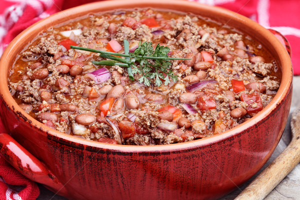 Chili Con Carne in Pot Stock photo © StephanieFrey