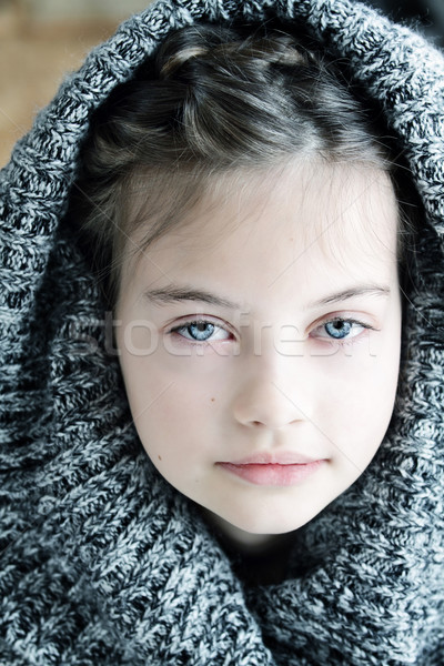 Girl in Hooded Sweater Stock photo © StephanieFrey