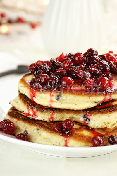 Pancakes and Cranberry Syrup  Stock photo © StephanieFrey