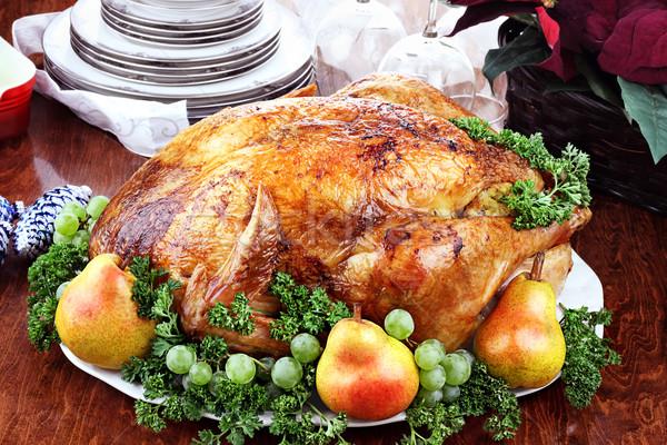 Delicious Turkey Dinner Stock photo © StephanieFrey