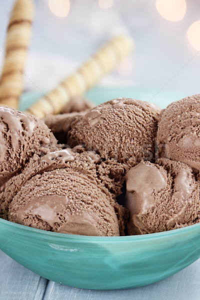 Bowl of Delicious Chocolate Ice Cream Stock photo © StephanieFrey