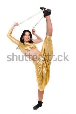Smiling woman makes splits Stock photo © stepstock