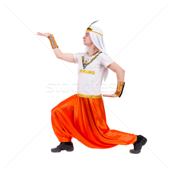 Pointing pharaoh wearing a egyptian costume Stock photo © stepstock