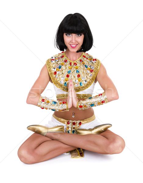 Jogi kobieta egipcjanin kostium odizolowany Zdjęcia stock © stepstock