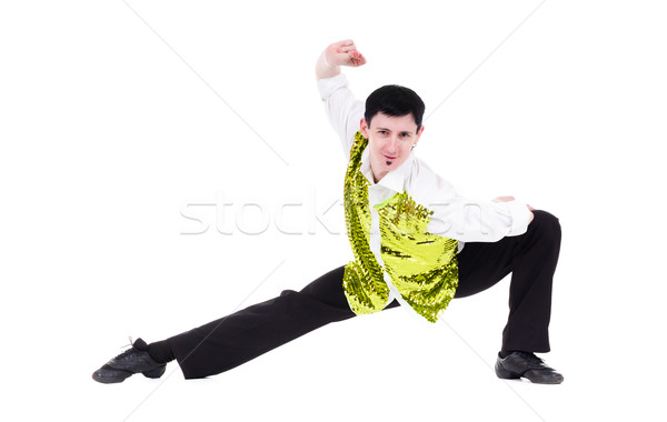 disco dancer man showing some movements Stock photo © stepstock