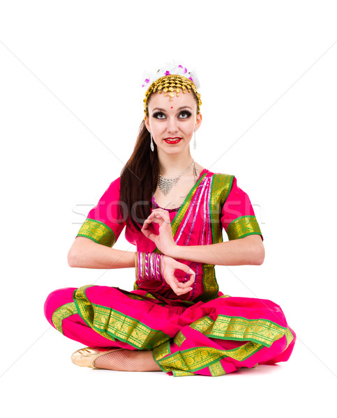full length portrait of indian woman posing Stock photo © stepstock