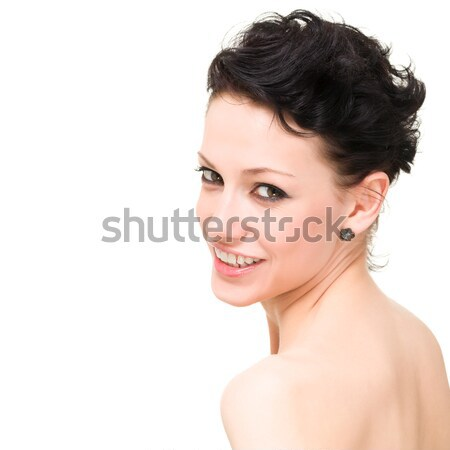 Beautiful young smiling woman Stock photo © stepstock