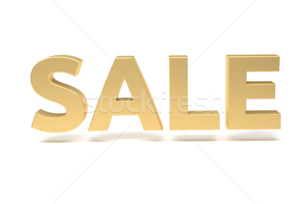 render of the word sale, gold Stock photo © stepstock
