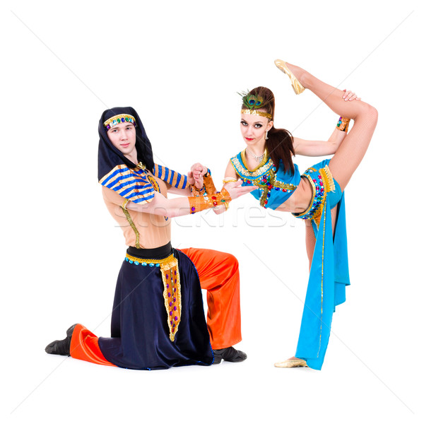 dancers couple dressed in Egyptian costumes posing Stock photo © stepstock