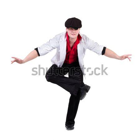 Hombre vestido atractivo algo Foto stock © stepstock