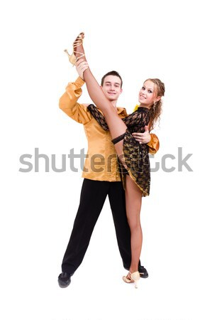 two young modern acrobats posing Stock photo © stepstock