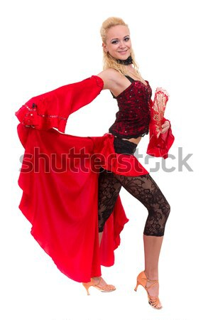gypsy woman dancing with fan Stock photo © stepstock