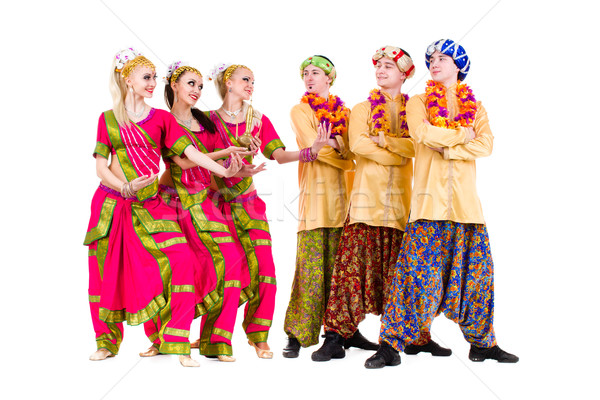 dancers dressed in Indian costumes posing Stock photo © stepstock