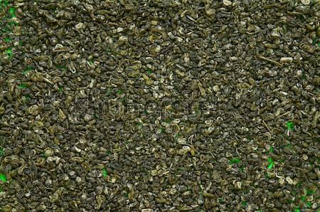 Végtelenített textúra zöld tea közelkép végtelen minta étel Stock fotó © stepstock
