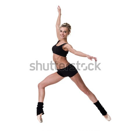 Young fitness woman doing exercise Stock photo © stepstock