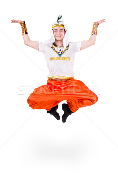 Jumping pharaoh wearing a egyptian costume. Stock photo © stepstock
