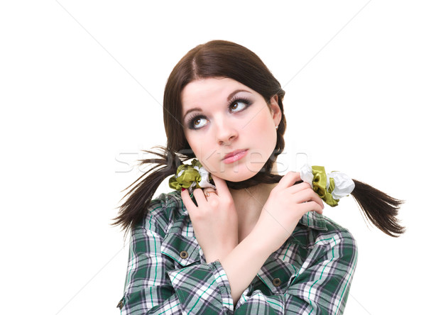upset girl with pigtails Stock photo © stepstock