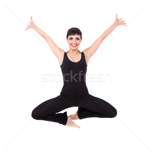 Attractive young dancer jumping Stock photo © stepstock