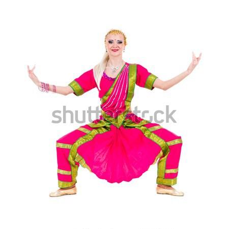 Teljes alakos kabaré nő retro ruha érzéki Stock fotó © stepstock